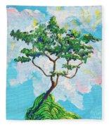 Wish Bone Tree Fleece Blanket