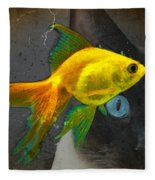 Wishful Thinking - Cat And Fish Art By Sharon Cummings Fleece Blanket