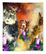 Wishing You A Blessed Advent Fleece Blanket