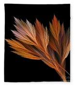 Wispy Tones Of Autumn Fleece Blanket