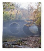 Wissahickon Creek And Bells Mill Road Bridge Fleece Blanket