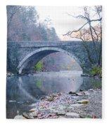 Wissahickon Creek And Valley Green Bridge Fleece Blanket
