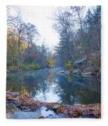 Wissahickon Creek - Fall In Philadelphia Fleece Blanket