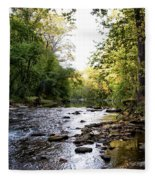 Wissahickon Creek Near Bells Mill Fleece Blanket