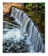 Wissahickon Dam At Ridge Avenue - Side View Fleece Blanket