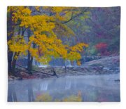 Wissahickon Morning In Autumn Fleece Blanket
