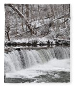 Wissahickon Waterfall In Winter Fleece Blanket