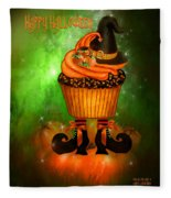 Witch Cupcake 4  Fleece Blanket