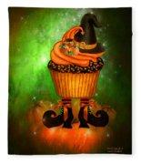 Witch Cupcake 6 Fleece Blanket