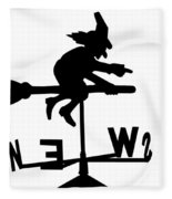 Witch On A Broomstick Fleece Blanket