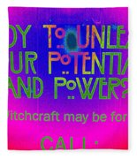 Witchcraft May Be For You Fleece Blanket