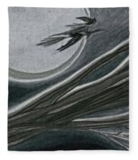Witches' Branch Grey By Jrr Fleece Blanket