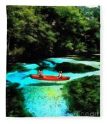 With A Paddle Fleece Blanket