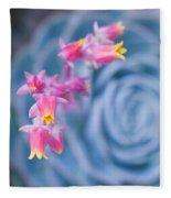 with affection - Echeveria glauca Fleece Blanket