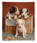 With Hearty Good Wishes Fleece Blanket