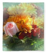 With Love Flower Bouquet Fleece Blanket