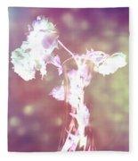 Withering Away - Magenta Sparkle Fleece Blanket