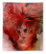 Within A Glass Heart Fleece Blanket