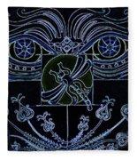 Within The Darkness Fleece Blanket