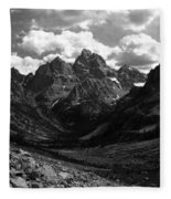 Within The North Fork Of Cascade Canyon Fleece Blanket