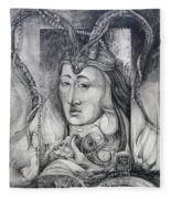 Wizard Of Bogomil's Island - The Fomorii Conjurer Fleece Blanket
