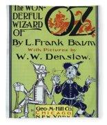 Wizard Of Oz Book Cover  1900 Fleece Blanket