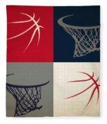 Wizards Ball And Hoop Fleece Blanket