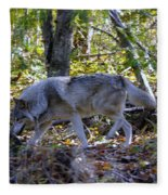 Wolf In The Woods Fleece Blanket