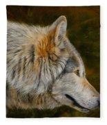Wolf 4 Fleece Blanket