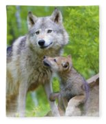 Wolf Of Minnesota Fleece Blanket