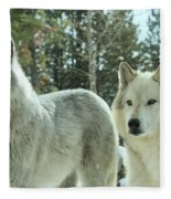 Wolf Gaze Fleece Blanket