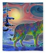 Wolf Gaze Fleece Blanket