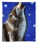 Wolf Howl Fleece Blanket