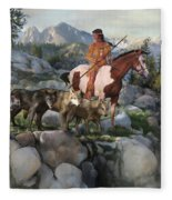 Wolf Maiden Fleece Blanket