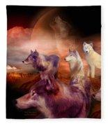 Wolf Mountain Fleece Blanket