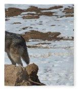 Wolf Pair Fleece Blanket