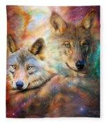 Wolf - Spirit Of The Universe Fleece Blanket