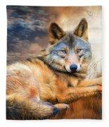Wolf - Spirit Of Truth Fleece Blanket