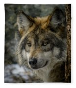 Wolf Upclose 2 Fleece Blanket