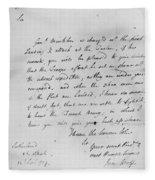 Wolfe Letter, 1759 Fleece Blanket