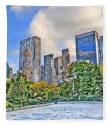 Wollman Rink In Central Park Fleece Blanket