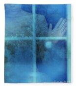 Woman At A Window Fleece Blanket