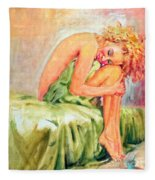 Woman In Blissful Ecstasy Fleece Blanket