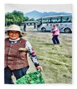 Woman In China Fleece Blanket