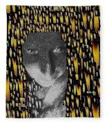 Woman In Flames Fleece Blanket