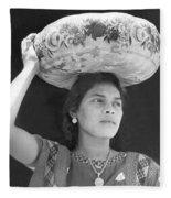 Woman In Tehuantepec, Mexico, 1929 Fleece Blanket