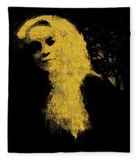 Woman In The Dark Fleece Blanket