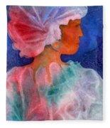 Woman In Turban Fleece Blanket