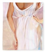 Woman In White Fleece Blanket