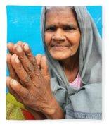 Woman Of India Fleece Blanket